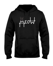 Black Cat Meow  Hooded Sweatshirt thumbnail