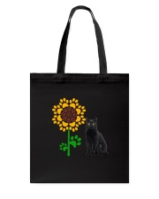 Sunflower and black cat Tote Bag thumbnail