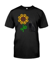 Sunflower and black cat Classic T-Shirt tile
