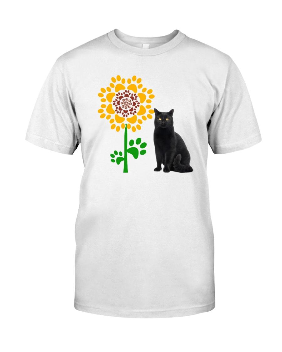 Sunflower and black cat Classic T-Shirt