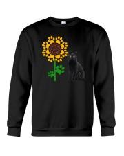 Sunflower and black cat Crewneck Sweatshirt thumbnail