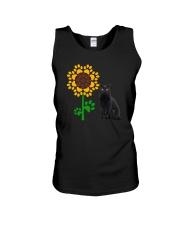 Sunflower and black cat Unisex Tank thumbnail