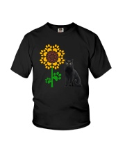 Sunflower and black cat Youth T-Shirt thumbnail