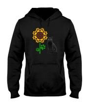 Sunflower and black cat Hooded Sweatshirt thumbnail