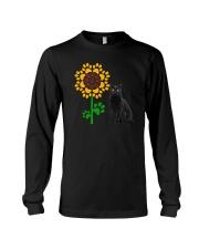 Sunflower and black cat Long Sleeve Tee thumbnail
