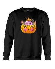 Cute Cat Pumpkin Crewneck Sweatshirt thumbnail