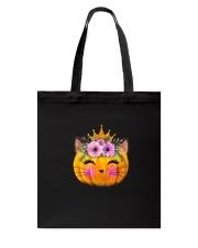 Cute Cat Pumpkin Tote Bag thumbnail