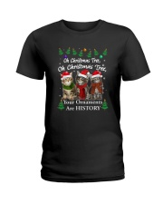 Maine Coon Ornaments Tree 2210  Ladies T-Shirt thumbnail