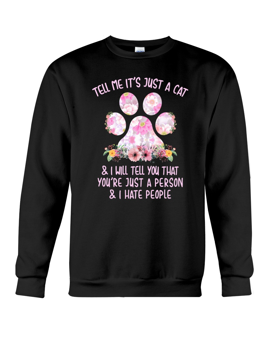 Cat and person Crewneck Sweatshirt