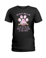 Cat and person Ladies T-Shirt thumbnail