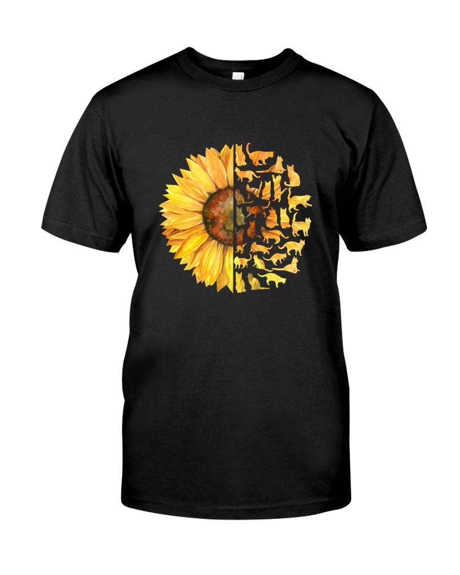 More Cats and sunflower Classic T-Shirt