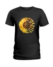 More Cats and sunflower Ladies T-Shirt thumbnail
