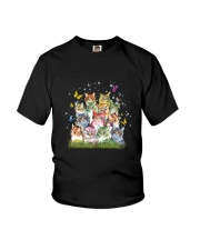 Cat Colorful Youth T-Shirt thumbnail