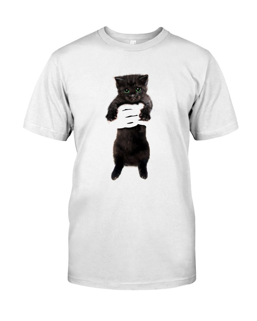 Black cat and hand Classic T-Shirt