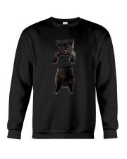 Black cat and hand Crewneck Sweatshirt thumbnail