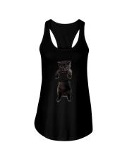 Black cat and hand Ladies Flowy Tank thumbnail