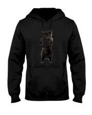 Black cat and hand Hooded Sweatshirt thumbnail