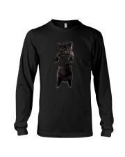 Black cat and hand Long Sleeve Tee thumbnail