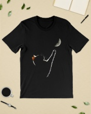 Cat Chasing The Moon Classic T-Shirt lifestyle-mens-crewneck-front-19