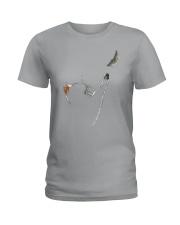 Cat Chasing The Moon Ladies T-Shirt thumbnail