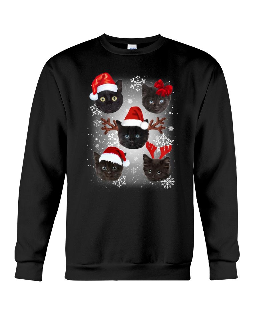 Cat head snow 0210 Crewneck Sweatshirt