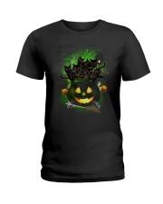 Black Cat In Pot 0708 Ladies T-Shirt thumbnail