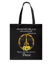 Black Cat Peace Tote Bag thumbnail