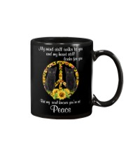 Black Cat Peace Mug thumbnail