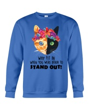 Cat born to stand out 0910 Crewneck Sweatshirt thumbnail