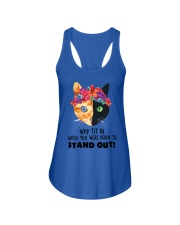 Cat born to stand out 0910 Ladies Flowy Tank thumbnail