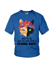 Cat born to stand out 0910 Youth T-Shirt thumbnail