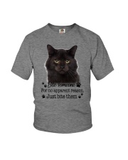 Cat Bite Someone 0410  Youth T-Shirt tile