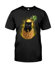 THEIA Black Cat Pineapple 1607 Classic T-Shirt front