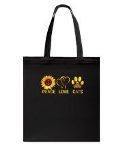Peace - Love - Cats Tote Bag thumbnail