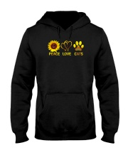 Peace - Love - Cats Hooded Sweatshirt thumbnail
