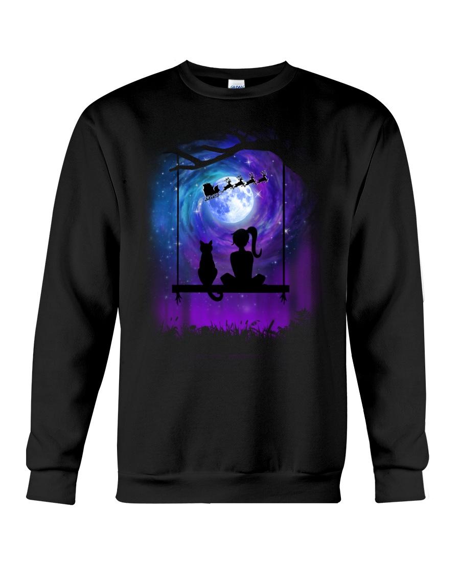 Cat And Me Christmas Crewneck Sweatshirt