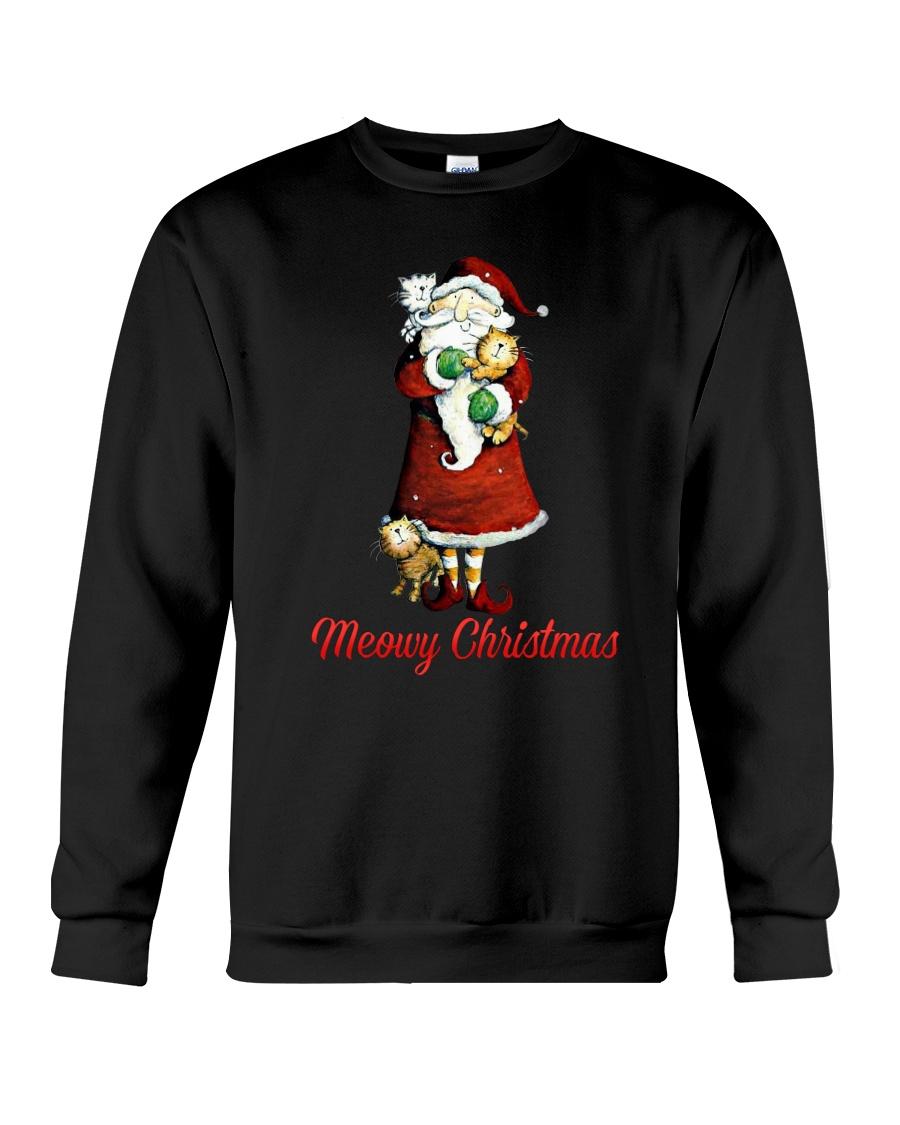 Cat Santa meowy christmas Crewneck Sweatshirt