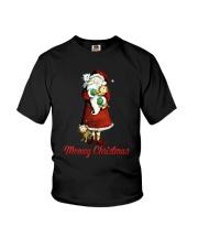 Cat Santa meowy christmas Youth T-Shirt thumbnail
