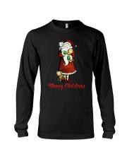 Cat Santa meowy christmas Long Sleeve Tee thumbnail