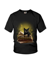 Black Cat My Book 0712 Youth T-Shirt tile
