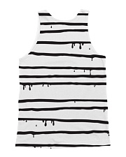 Black Cat Drawing  All-over Unisex Tank back