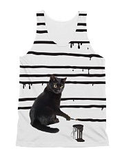 Black Cat Drawing  All-over Unisex Tank front