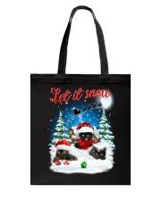 Let It Snow Black Cat Tote Bag thumbnail
