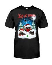 Let It Snow Black Cat Classic T-Shirt thumbnail