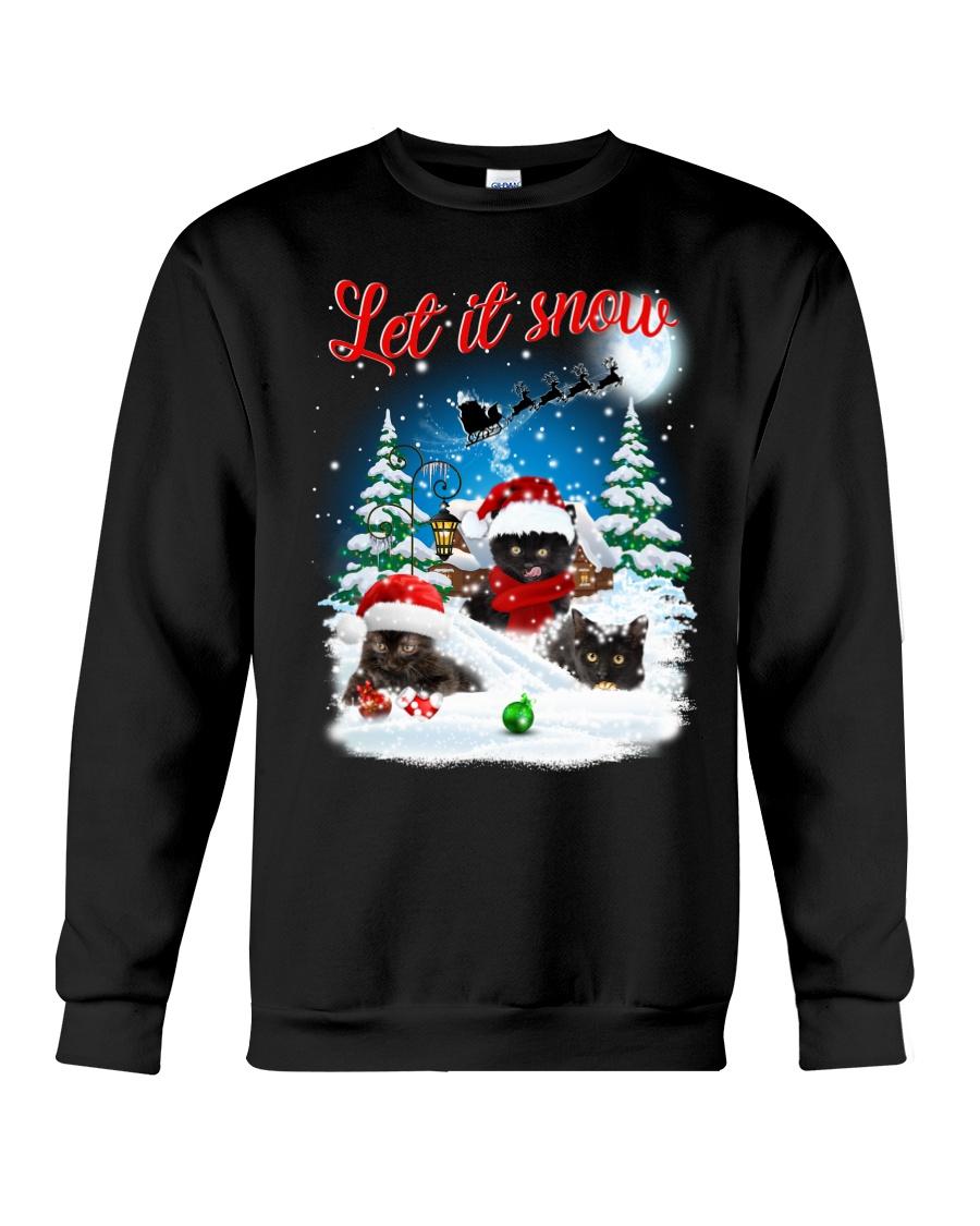Let It Snow Black Cat Crewneck Sweatshirt