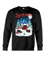 Let It Snow Black Cat Crewneck Sweatshirt front
