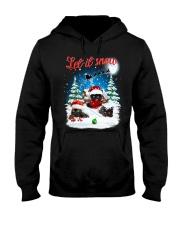 Let It Snow Black Cat Hooded Sweatshirt thumbnail