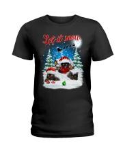 Let It Snow Black Cat Ladies T-Shirt thumbnail