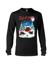 Let It Snow Black Cat Long Sleeve Tee thumbnail