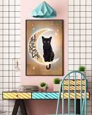Black Cat Love Moon And Back 2512 11x17 Poster lifestyle-poster-6